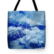 Mountains, Clouds And Geometry Tote Bag