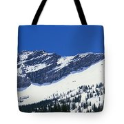Mountains Covered With Snow, Little Tote Bag
