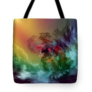 Mountains Crumble To The Sea Tote Bag