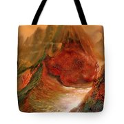 Mountains Fire Tote Bag