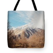 Mountains In The Background Xvi Tote Bag