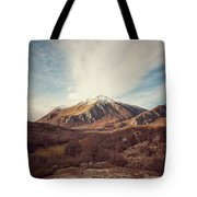 Mountains In The Background Xvii Tote Bag
