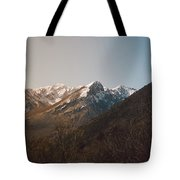 Mountains In The Background Xviii Tote Bag