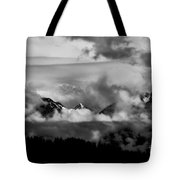 Mountains In The Clouds Tote Bag