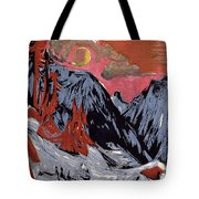 Mountains In Winter Tote Bag by Ernst Ludwig Kirchner