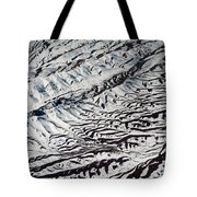 Mountains Patterns. Aerial View Tote Bag