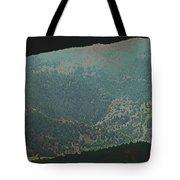 Mountains Peeking Through Tote Bag