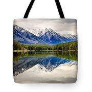 Mountains Reflected In The Lake Tote Bag