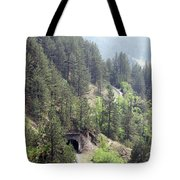 Mountains With Railroad And Tunnels  Tote Bag