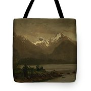 Mountains_and_lake Tote Bag