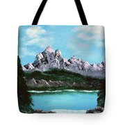 Mountian Waterfall Tote Bag