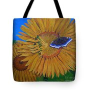 Mourning Cloak's Sunflowers Tote Bag