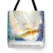 Mourning Dove About To Land On Tree Branch Tote Bag