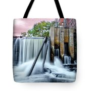 Mousam River Waterfall In Kennebunk Maine Tote Bag