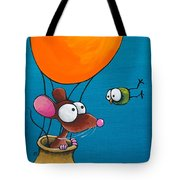 Mouse In His Hot Air Balloon Tote Bag