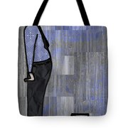 Moustache Salesman Tote Bag