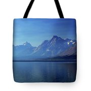 Moutains In Blue Tote Bag