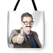 Movember Man Proud Of His Moustache Tote Bag