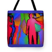 Human Movement In Color Tote Bag