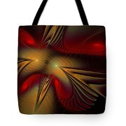 Movement Of Red And Gold Tote Bag