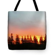 Movement Of The Sky And Forest Trees Tote Bag
