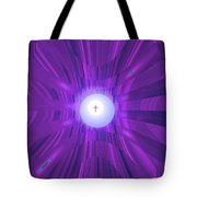 Moveonart Abstract Cross In Purple Tote Bag