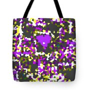 Moveonart Abstract Visual Therapy With Purple Heart Tote Bag