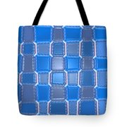 Moveonart  Blue Bricks Tote Bag