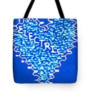 Moveonart Electric Blu Heart 1 Tote Bag