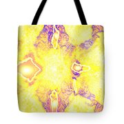 Moveonart Extra Jagged Colored Enlightening Seven Tote Bag