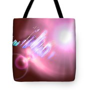 Moveonart Futuristic Cities Of Light Tote Bag