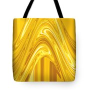 Moveonart Golden Light Wave Tote Bag