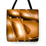 Moveonart Inverted Minimal Wave And Light In Amber Tote Bag