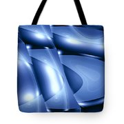 Moveonart Inverted Minimal Wave And Light In Blue Tote Bag