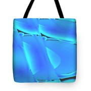 Moveonart Inverted Waves Bubble And Light In Aqua Tote Bag