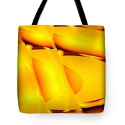 Moveonart Inverted Waves Bubble And Light In Orange Tote Bag