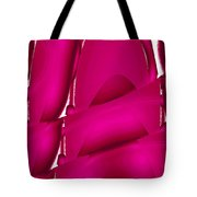 Moveonart Inverted Waves Bubbles And Light In Red Tote Bag