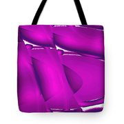 Moveonart Inverted Waves Bubbles And Light In Violet 2 Tote Bag