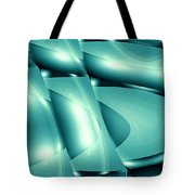 Moveonart Invertes Minimal Wave And Light In Green Tote Bag