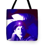 Moveonart Jacob In Blue Light Thinking Tote Bag
