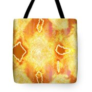 Moveonart Jagged Colored Enlightenment Three Tote Bag
