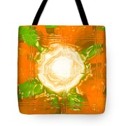 Moveonart Joy With Light In Orange Tote Bag