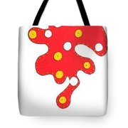 Moveonart Laughing Amoeba   Painted Over Tote Bag