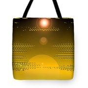 Moveonart Light Rise In The Darkness Tote Bag