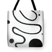 Moveonart Minimal Curves And Black Dots Tote Bag