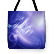 Moveonart Mysterious Crystal City Coming Down Tote Bag