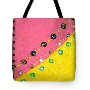 Moveonart Orange And Yellow With Mixed Media Tote Bag