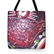 Moveonart Red Flow Tote Bag