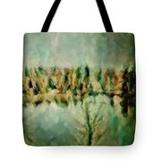 Movie A Chance In The World Placid Lake Frozen In The Winter Fall Ice Bitter Cold Uninviting Cool Pa Tote Bag