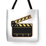 Movie Camera Slate Clapper Board Open Retro Tote Bag